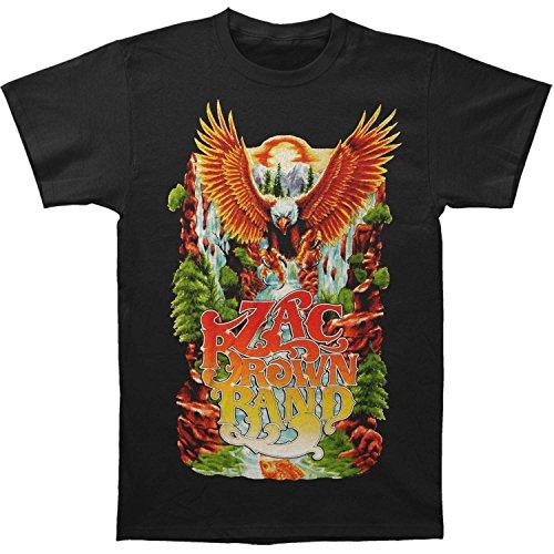 - Zac Brown Band Men's Eagle Waterfall Mens Soft T Slim Fit T-shirt XX-Large Black