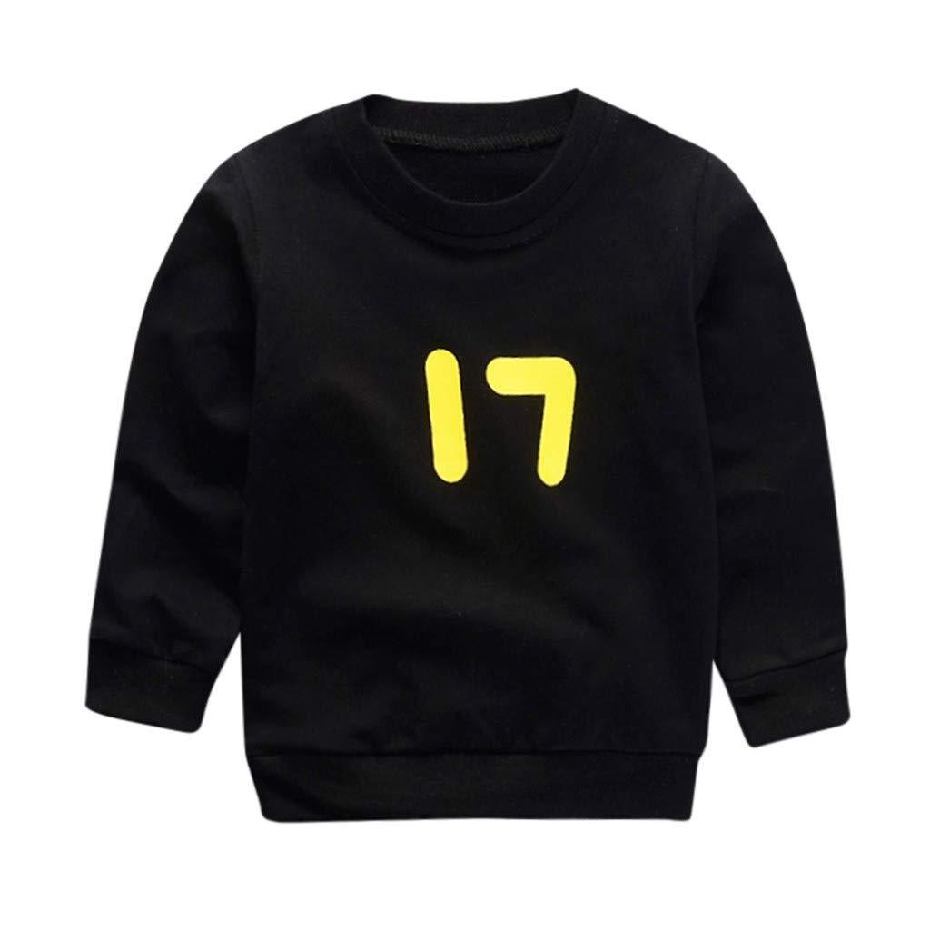 WEXCV Baby Sweatshirt Unisex M/ädchen und Jungen f/ür Kinder Lange /Ärmel Cartoon-Muster Baumwollmaterial Warme S/ü/ße Herbst und Winter Pullover Beil/äufige Tops