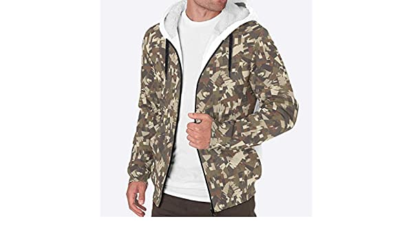 ChengMaR Mens Full Zip Hoodie Jackets Workout Fleece Viking Jacket
