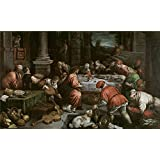 Canvas Prints Of Oil Painting ' Bassano Leandro Las Bodas De Canaan 16 Century' 10 x 16 inch / 25 x 42 cm , High Quality Polyster Canvas Is For Gifts And Garage, Living Room And Study Room Decoration