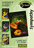 Divinity Boutique Greeting Card Assortment - Sympathy, Butterflies (17989N)