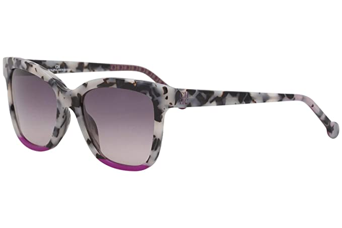 Carolina Herrera SHE744 GRAY CLEAR HAVANA (09BB) - Gafas de ...