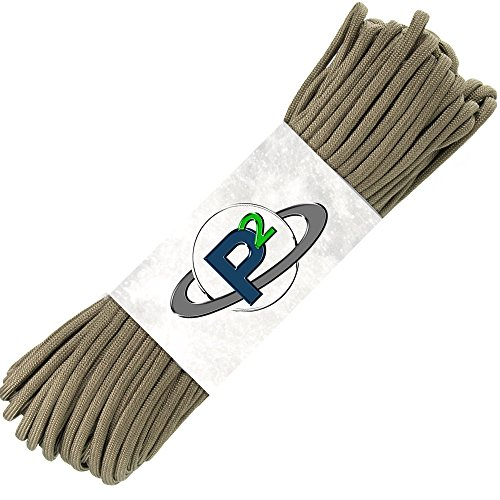 Paracord Planet Mil-Spec Commercial Grade 550lb Type III Nylon Paracord 100 feet Coyote Brown