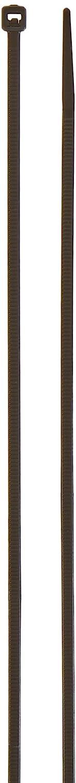 Black PA66 Hellermann Tyton T18L0C2 Standard Cable Tie 18lb Tensile Strength 8 Long 8 Long Pack of 100