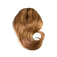 Sono 1 Count 100% Human Hair Side Swept Clip-In Bang Extensions, #10 Medium Ash