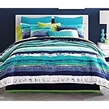 J by J. Queen New York Cordoba Comforter Set, Teal (Twin)