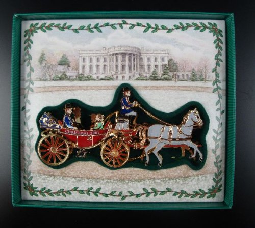 (White House Historical Association 2001 White House Christmas Ornament, A First Family's Carriage Ride)