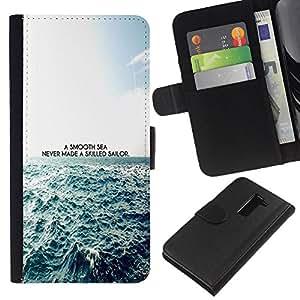 """A-type (Un mar impresiones Smooth"""") Colorida Impresión Funda Cuero Monedero Caja Bolsa Cubierta Caja Piel Card Slots Para LG G2 D800"""