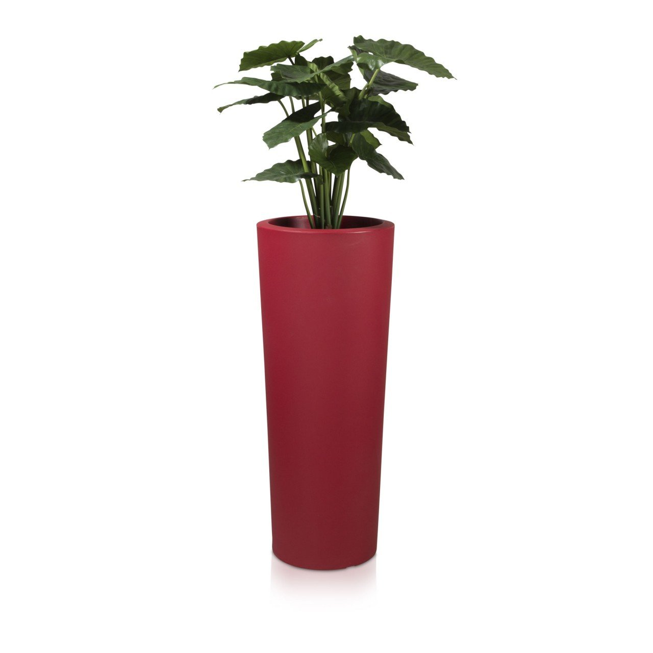 Pflanzkübel Blumenkübel CONO 110 Kunststoff, 45x45x110 cm, rot matt
