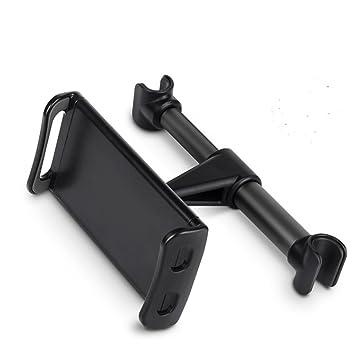 Soporte Tablet Coche, JDWG Soporte iPad Para Reposacabezas de rotación 360 grados y Multi-ángulo para 4.7-11 pulgadas Tablet y Smartphones (Negro): ...