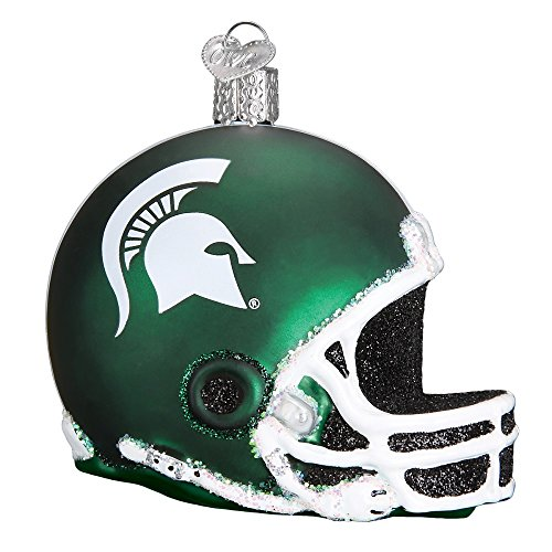 Old World Christmas 63817 Ornament, Michigan State Helmet