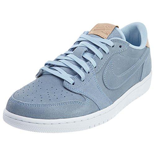 Jordan Nike Männer Air 1 Retro Low OG Prem Basketballschuh Eisblau / Vachetta Tan-weiß