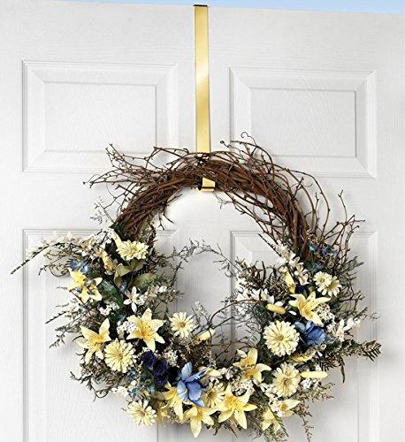 Deluxe Wreath - Spectrum Brass Design Over The Door 1