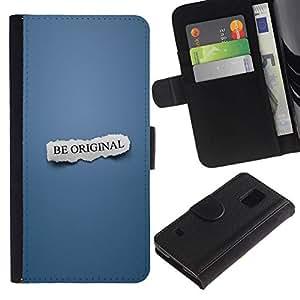 NEECELL GIFT forCITY // Billetera de cuero Caso Cubierta de protección Carcasa / Leather Wallet Case for Samsung Galaxy S5 V SM-G900 // SER ORIGINAL
