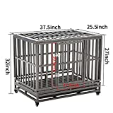 LUCKUP Heavy Duty Dog Cage Strong Metal Kennel and