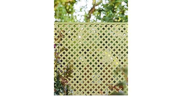 Jardin202 060 x 120 Metros - Celosía Fija de PVC - 18mm - Marfil ...