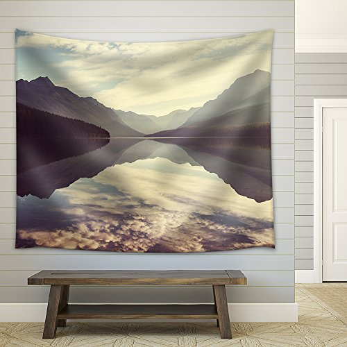 Bowman Lake in Glacier National Park Montana Usa Fabric Wall