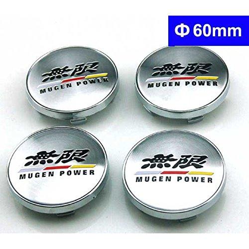 4pcs W180 60mm Car Styling Accessories Emblem Badge Sticker Wheel Hub Caps Centre Cover MUGEM POWER HONDA CIVIC