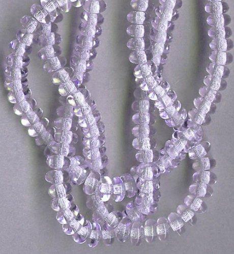 4mm Rondelle Czech Glass Beads - 100pc Alexandrite