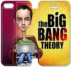El caso del tirón del cuero Big Bang Theory X7G35P0 iPhone 5 5S 5SE funda O1M64N8 únicos casos funda de teléfono personalizada