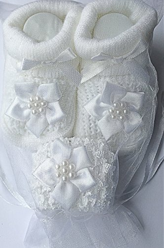 De fotos de bebé para hacer vestidos de niña de sharla fults blanca de la flor de la de felicitación para bautizo calcetines antideslizantes con separación de zapatos de y de agujas de ganchillo - - H