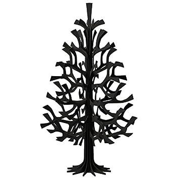 Weihnachtsbaum Aus Holz Selbstmontage Schwarz 60 Cm Amazon De