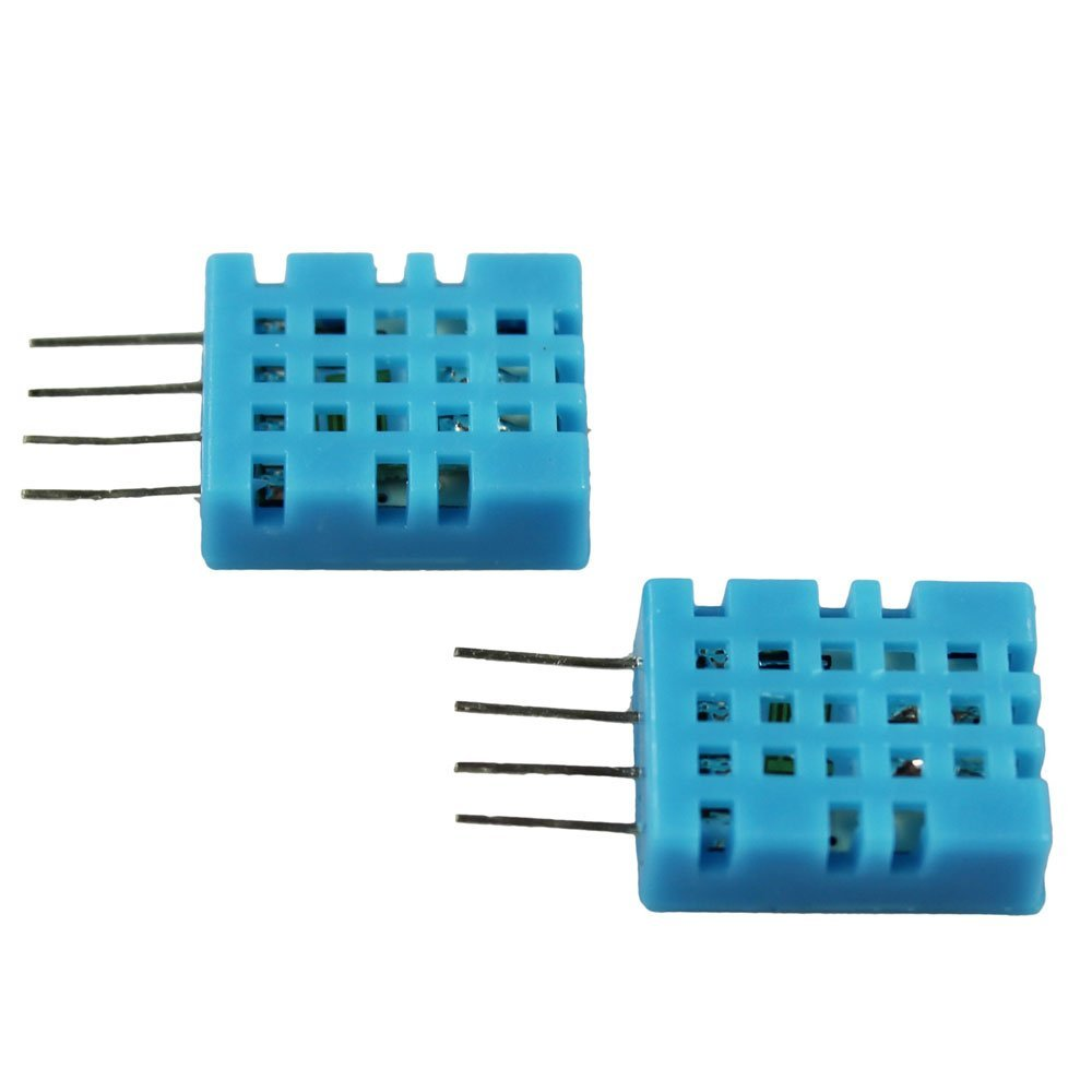 COM-FOUR® 2x DHT11 Digital Sensor Humidity & Temperature Sensor for Raspberry and Arduino (DHT11 - 2 pieces) COM-FOUR®