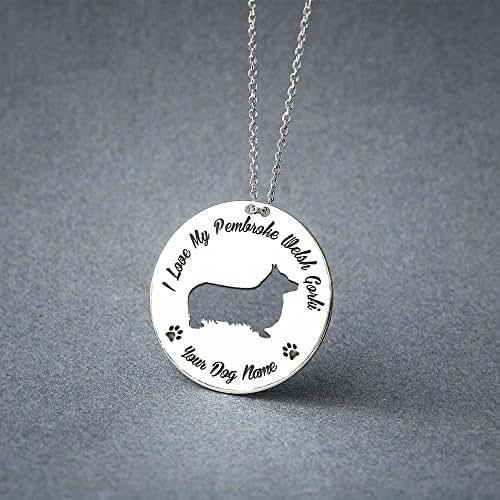 Personalised Pembroke Welsh Corgi Necklace - Pembroke Welsh Corgi Disc name Jewelry - Dog Jewelry - Dog breed Necklace - Dog Necklaces