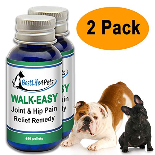 WALK-EASY Hip and Joint Supplement for Dogs and Cats; Advanced Anti-inflammatory Support and Arthritis Pain Relief Pills | Natural, Chemical-free and Easy To Give Your Pet - 2 Pack