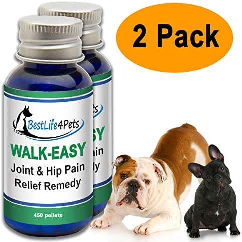 WALK-EASY Hip and Joint Supplement for Dogs and Cats; Advanced Anti-inflammatory Support and Arthritis Pain Relief Pills   Natural, Chemical-free and Easy To Give Your Pet - 2 Pack