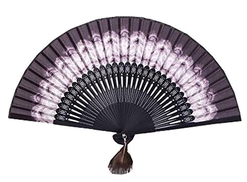 Chinese Style Process Fan Retro Folding Fan Dance Fan Home Decoration Gift (Purple)
