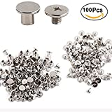 100pcs Chicago Binding Screws Rapid Post Nail Rivets for Leather Craft Belt Wallet Photo Album 5x6mm