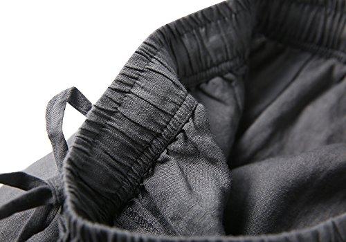stile forti in taglie pantaloni larghi Black in Alisa donna da e vita lino dritti Sonya elastico con casual xqzOt