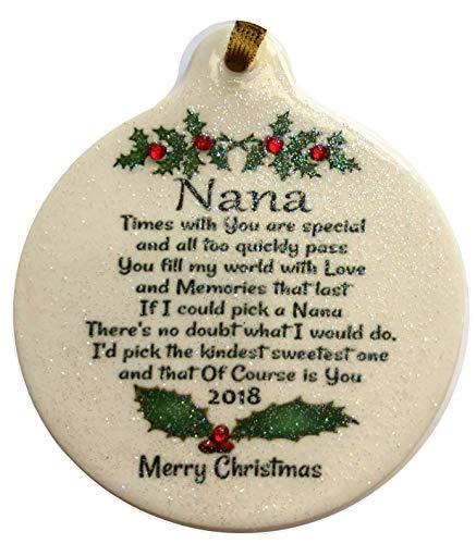 (Laurie G Creations Nana Love 2018 Porcelain Ornament Gift Boxed Rhinestone Kind Sweet)