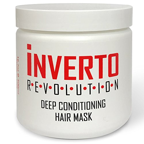 INVERTO Hair Mask, Deep Conditioner 16.7oz 500ml, works great with Keratin Treatments, Repair Dry, Damaged Or Color Treated Hair After Shampoo, For All Hair Types - Sulfate Free