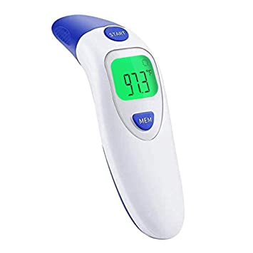 Digital Non-Contact Forehead Infrared Measurer with Fever Temperature Check for Office Home Supermarket School Community Entrance,Instant Accurate Reading with LCD Display Adult Child Baby. Blue
