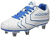 Kooga Boys' Warrior 2 Junior Rugby Boots, White (White/Blue), 5.5 UK 22 EU