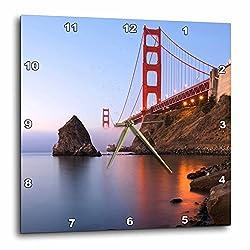 3dRose DPP_88610_1 California, San Francisco. Golden Gate Bridge-Us05 Rja0080-Rebecca Jackrel-Wall Clock, 10 by 10-Inch