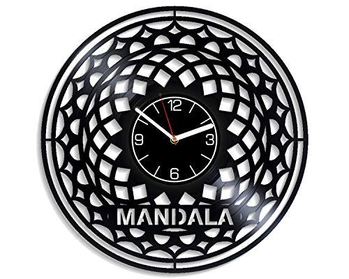 - Kovides Mandala Vinyl Record Wall Clock Buddhist Decoration 12 inch Wall Clock Mandala Art Birthday Gift for Man Buddhist Wall Art Hinduism Wall Clock Modern Mandala Vinyl Clock Xmas Gift for Boy