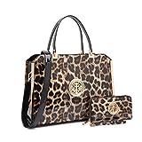MARCO collection Fashion Designer Women Satchel Top handle Handbag with Free Wallet Set for Women(10-6900W-LP)