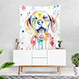 Lume.ly - Ditzy Dog Colorful Large Wall Tapestry, Exclusive Vibrant Art Decor for Bedroom Living Room Dorm Wall Decor, Wall Hanging, Beach Tapestries (50x60 inches)