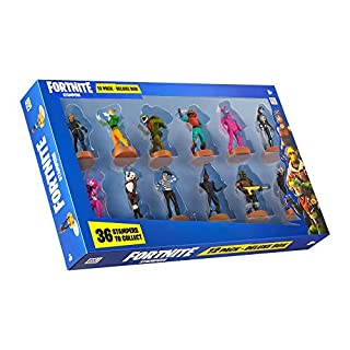 Fortnite Authentic Toys with Stamp, Set of 12 Figures - Rabbit Raider, Rex & Other Popular Fortnite Battle Royale Characters – B Series Action Collection 1 of 3 for Boys & Girls