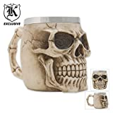 K EXCLUSIVE Realistic Fantasy Skull Coffee Mug And Tankard
