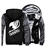 UU-Style Fairy Tail Logo Thick Sweater Jacket Coat Hooded Sweatshirt Fleece Hoodie