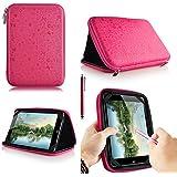 Casezilla Proscan 7 Tablet Universal EVA Hard Shell Folio Case - Cute Pink