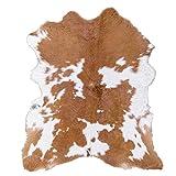 Cream Caramel Hairy Cowhide Calf Skin Rug
