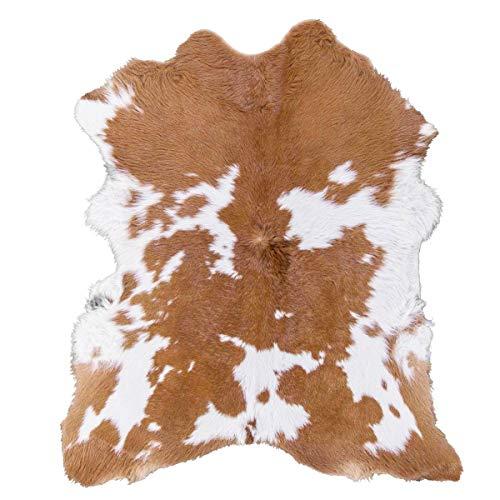 Amazon.com: Cream Caramel Hairy Cowhide Calf Skin Rug