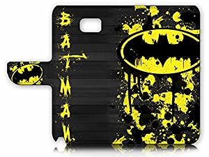Samsung Galaxy Note 5 Flip Wallet Case Cover & Screen Protector & Charging Cable Bundle! A6240 Batman at Gotham City Store