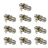 10 Pack Probrico Interior Bedroom Entrance Doorknobs One Keyway Entry Keyed Alike Door Lock Lockset in Satin Nickel with 30 Keys