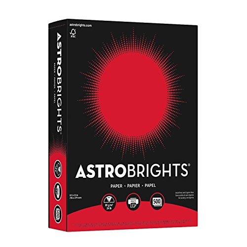 - Wausau Astrobrights Heavy Duty Paper, 24 lb, 8.5 x 11 Inch,Re-Entry Red, 500 Sheets (21558)